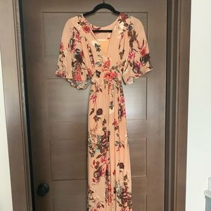 Floral Maxi Dress size Medium